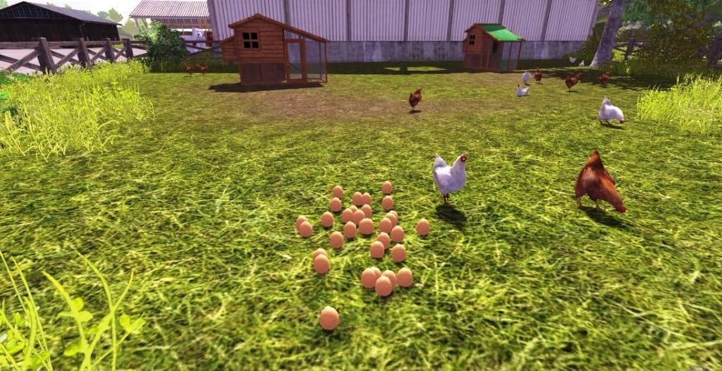 Farming Simulator 2017 где продавать яйца